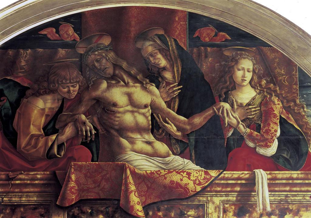 Pieta / Carlo Crivelli / 1493 : Stock Photo