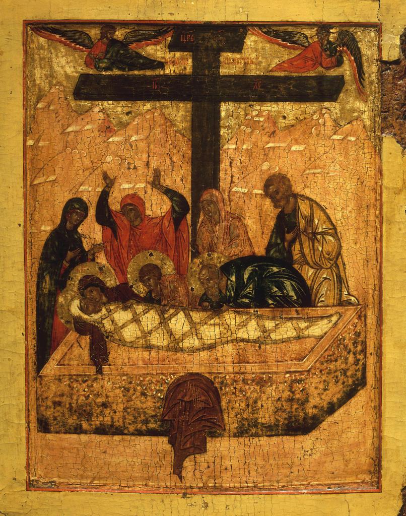 Lamentation of Christ / Russian icon : Stock Photo