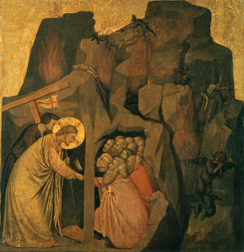 Stock Photo: 463-283850 Christus in Limbo / Giotto / c.1306