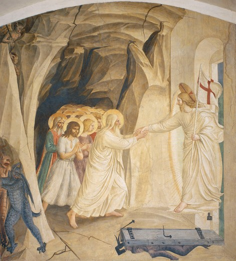Fra Angelico / Christ in Limbo / c.1437 : Stock Photo