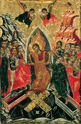 Stock Photo: 463-283863 Resurrection of Christ / Greek Icon