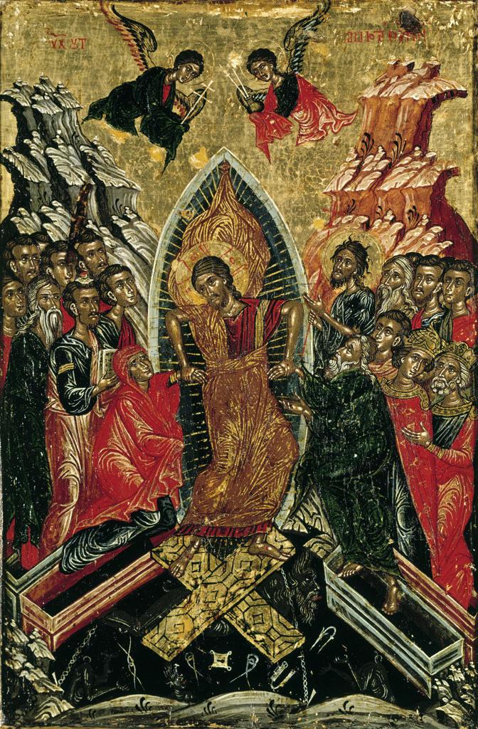 Resurrection of Christ / Greek Icon : Stock Photo