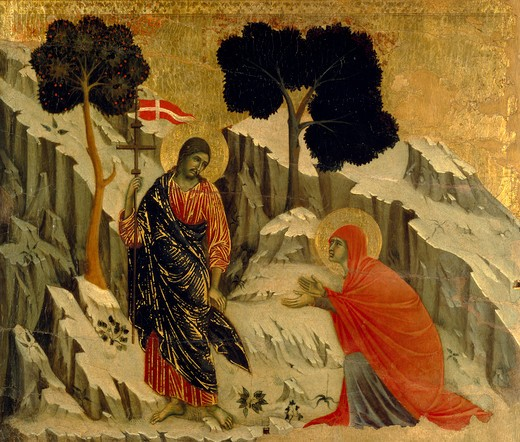 Stock Photo: 463-283879 Noli me tangere / Duccio / 1308/11