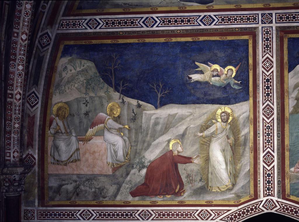 Noli me tangere / Giotto School / c.1320 : Stock Photo