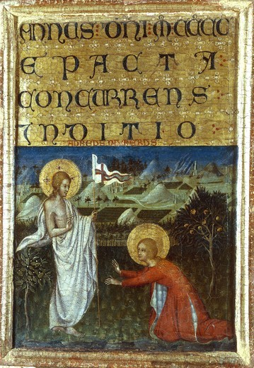 Noli me tangere / Giovanni di Paolo : Stock Photo