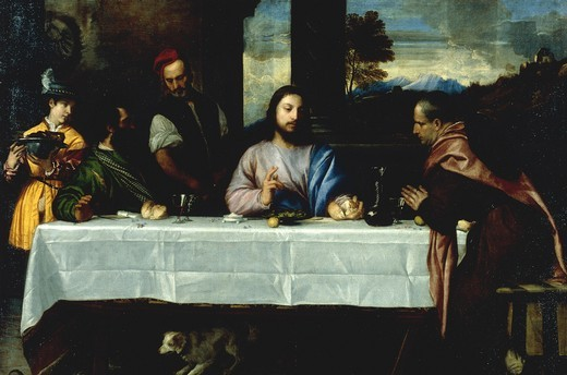 Disciples in Emmaus / Titian / c.1535/40 : Stock Photo