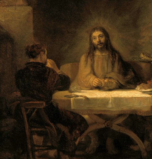 Stock Photo: 463-283889 Rembrandt, Christus in Emmaus -  -