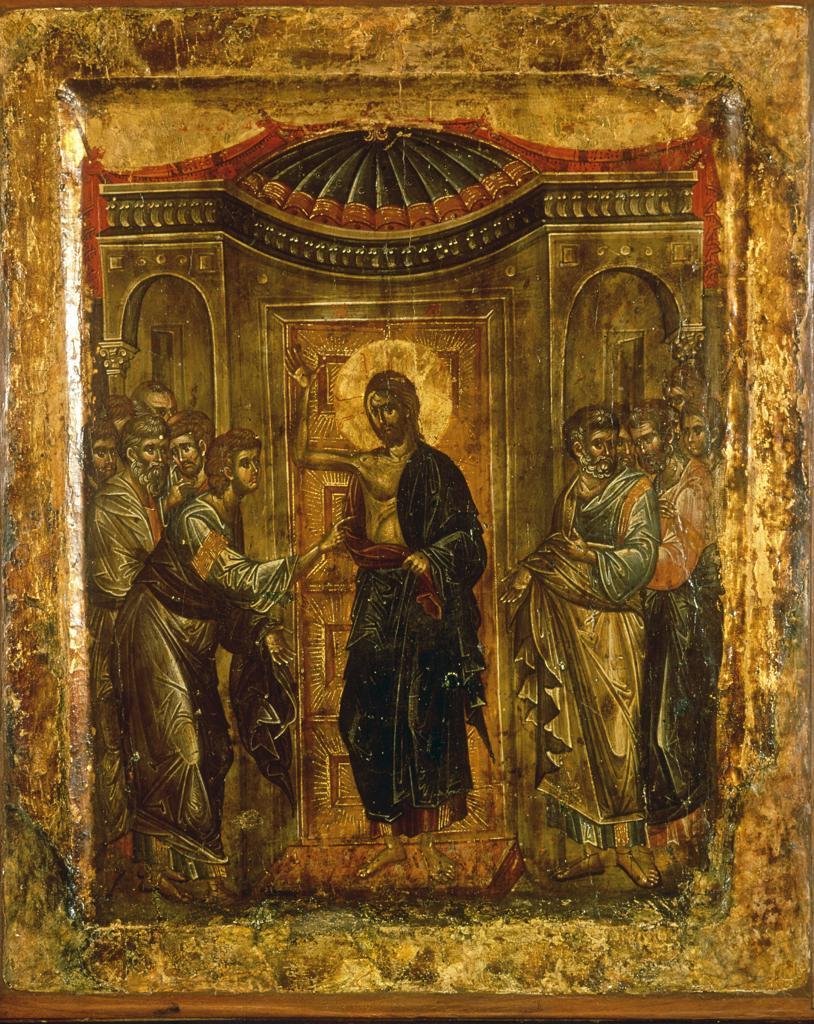 Stock Photo: 463-283893 Thomas the Unbeliever / Icon / Serbian
