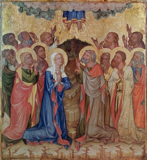 Stock Photo: 463-283905 Hohenfurth / Ascension of Christ / c1350