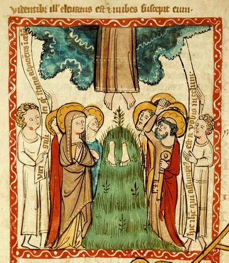 Ascension of Christ / Illumin. / c.1360 : Stock Photo