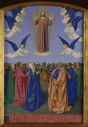 J.Fouquet, Ascension of Christ, Illumin. : Stock Photo