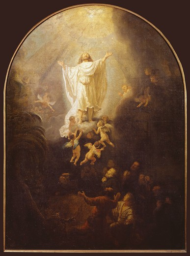 Rembrandt / Ascension of Christ / 1636 : Stock Photo