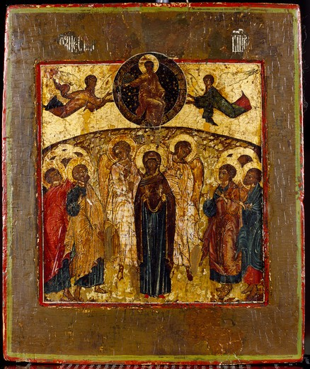 Stock Photo: 463-283910 Ascension of Christ / Icon / c.1700