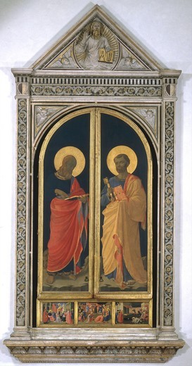 Stock Photo: 463-283918 Fra Angelico / St.Peter & Mark / Paint.