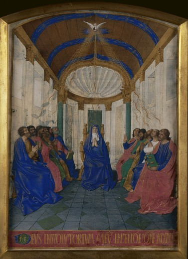 Stock Photo: 463-283935 J.Fouquet, Diffusion of the Holy Ghost