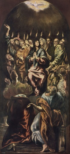 El Greco / Effusion of the Holy Spirit : Stock Photo