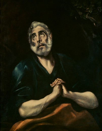 Stock Photo: 463-283953 El Greco / Repentant Peter / Painting