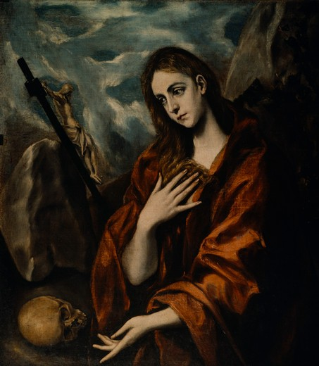 Stock Photo: 463-283982 El Greco / Repentant Mary Magdalene