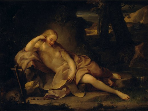 Penitent Mary Magdalene / Mengs / 1752 : Stock Photo