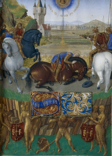 Jean Fouquet, St. Paul on his way... : Stock Photo
