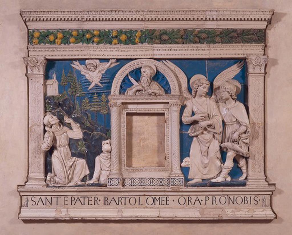 A.della Robbia / Bartholomew Altar : Stock Photo