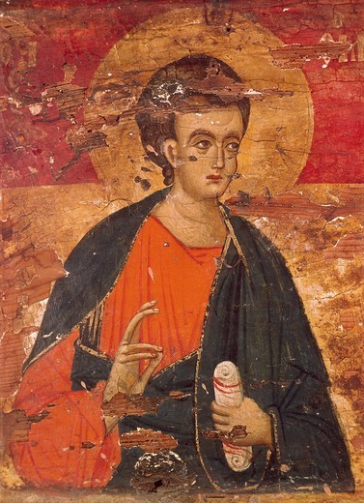 Stock Photo: 463-284027 Apostle Thomas / Icon / 15th century