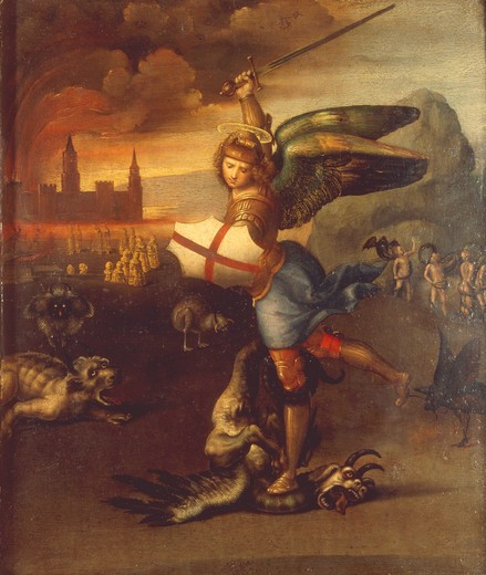 Stock Photo: 463-284029 Raphael/St.Michael and the dragon/c.1504