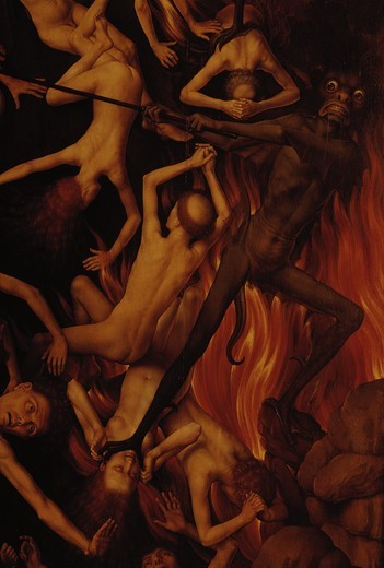 Stock Photo: 463-284050 Memling, Hans/Last Judgement Altar(det.)