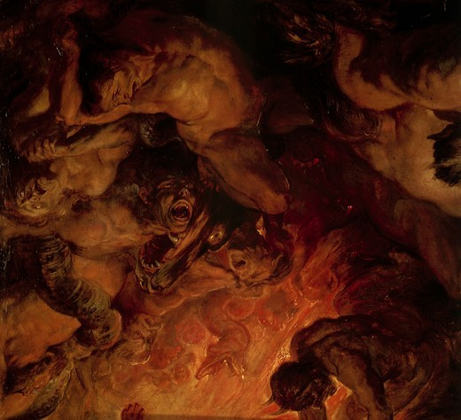 P.P. Rubens, The Day of Judgement c.1620 : Stock Photo