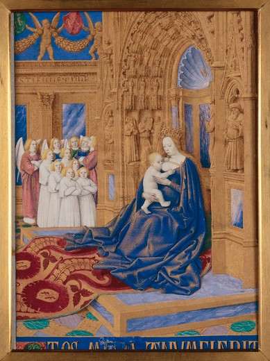 Jean Fouquet, Mary with child : Stock Photo