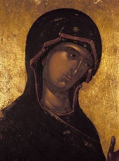 Stock Photo: 463-284186 Hodegetria Madonna / Icon / c.1260