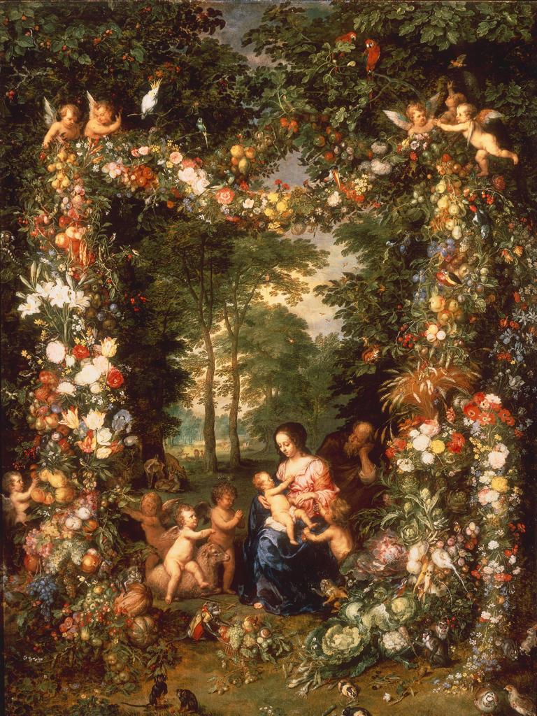 The Holy Family / J.Brueghel t.E : Stock Photo
