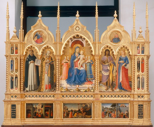 Mary, Child & Saints / Fra Angelico : Stock Photo