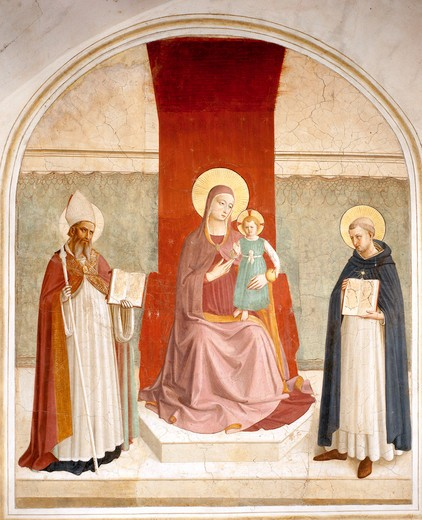 Fra Angelico /Mary w.Child a.Saints/ C15 : Stock Photo