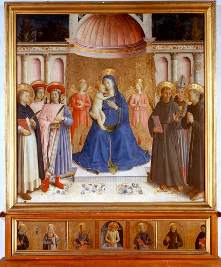 Stock Photo: 463-284243 Fra Angelico /Enthroned Madonna/ c.1448