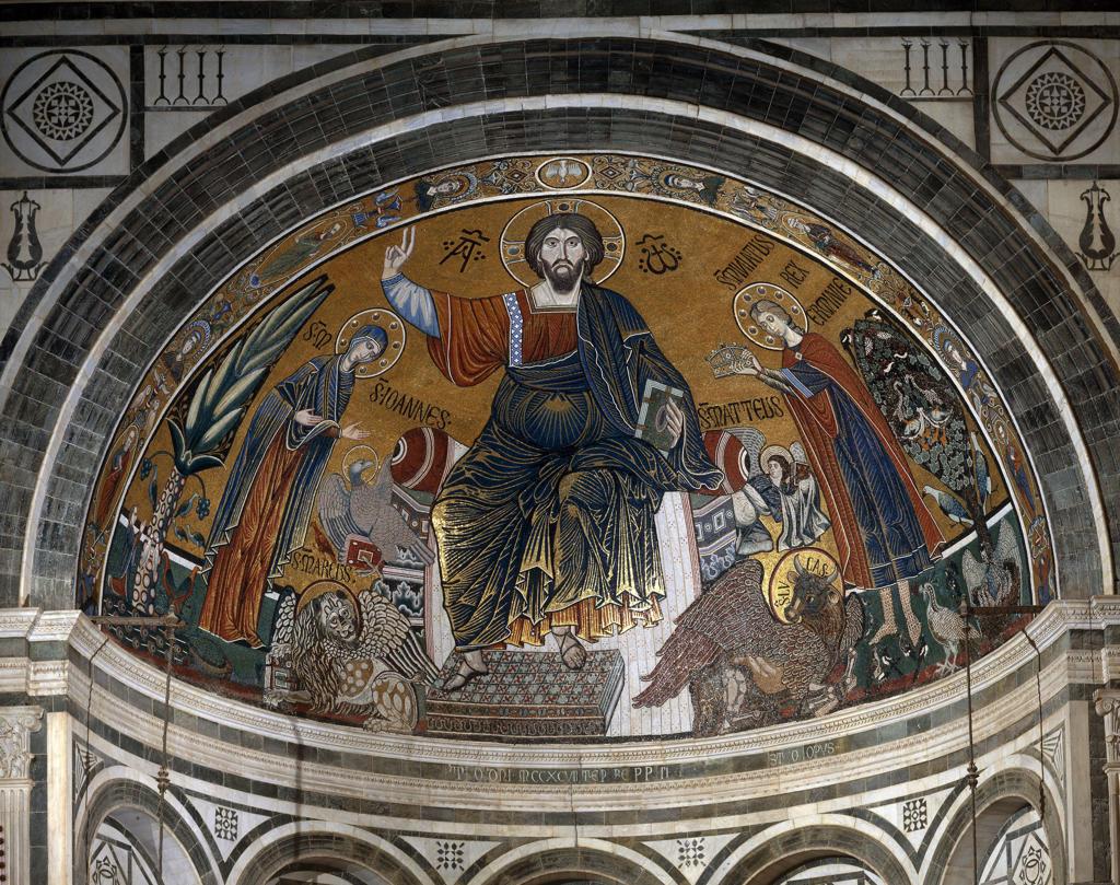 Enthr.Christ /Mosaic, S.Min.al Monte/C13 : Stock Photo