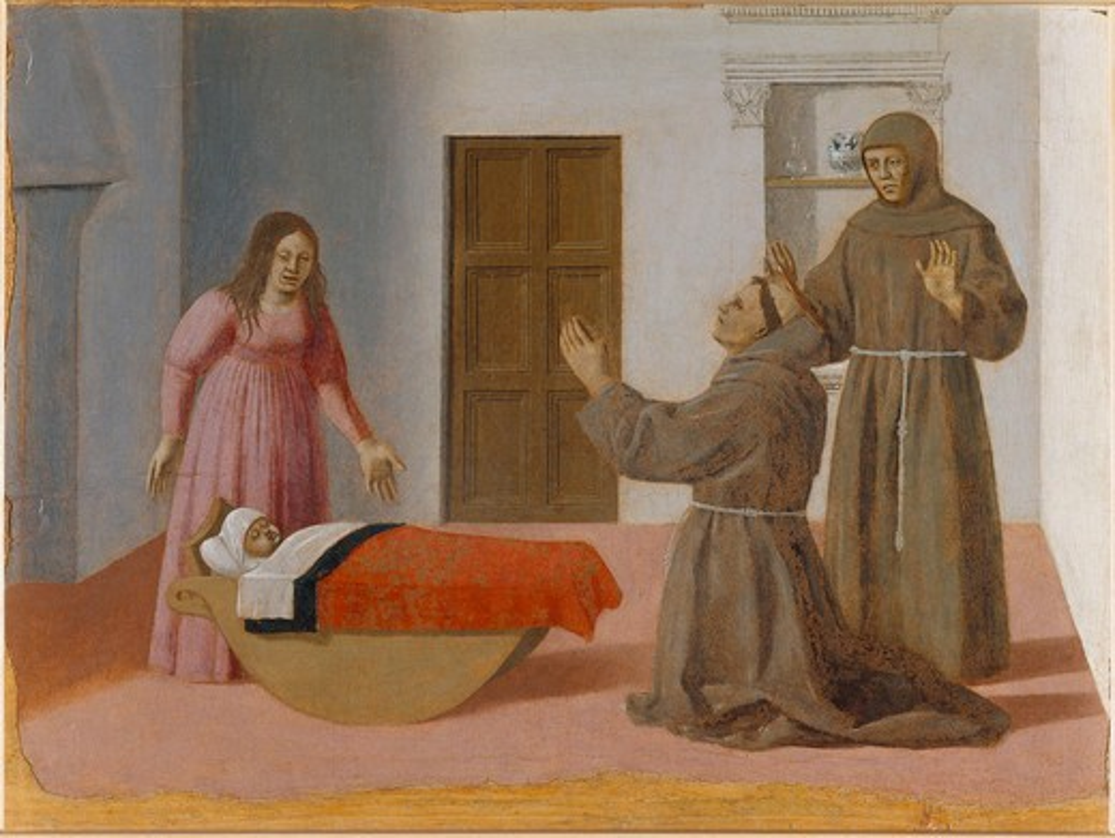 Piero della Francesca / St.Antony / 1455 : Stock Photo