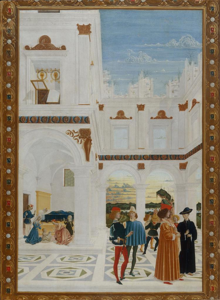 Stock Photo: 463-284376 Perugino / Miracle of St.Bernhard