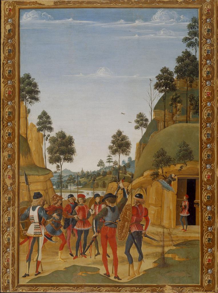 Stock Photo: 463-284378 Miracle of St.Bernard / Perugino