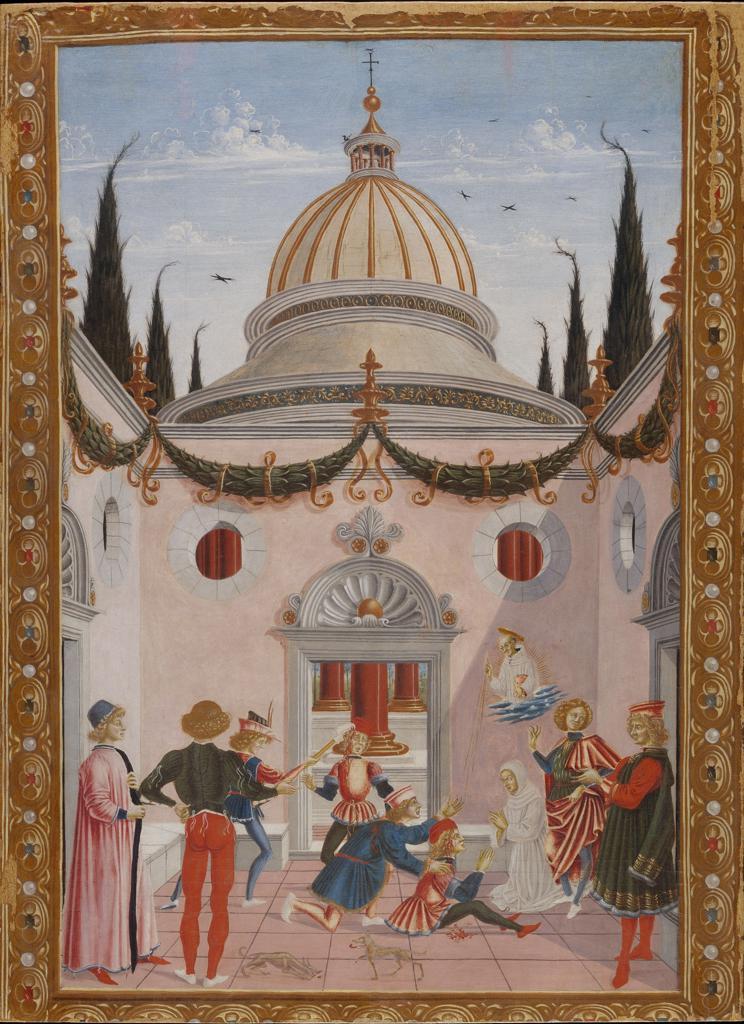 Stock Photo: 463-284380 Miracle of St.Bernard / Perugino