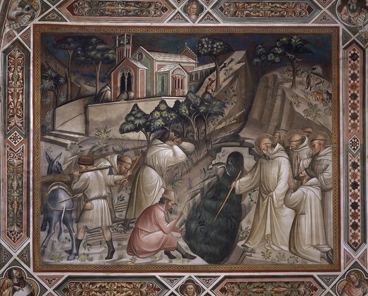 Stock Photo: 463-284385 Spinello Aretino / St.Benedict / Fresco