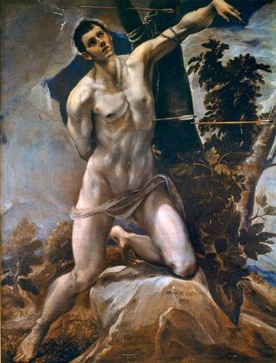 Stock Photo: 463-284440 El Greco / St Sebastian / Painting