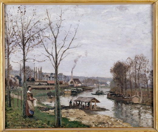 Stock Photo: 463-284498 Pissarro / Port-Marly / 1872           .