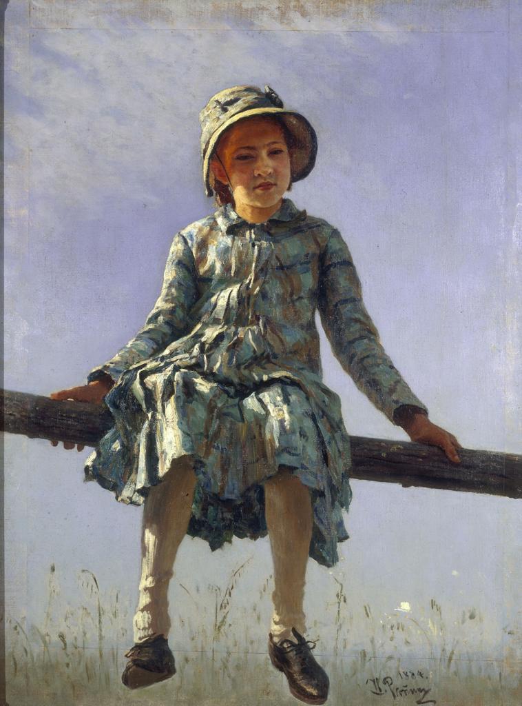 Ilya Repin / Butterfly / 1884 : Stock Photo