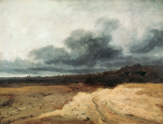 Georges Michel / Thunderstorm / Painting : Stock Photo