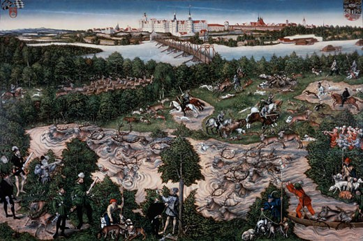 Prince Friedrich The Wise Deerhunting