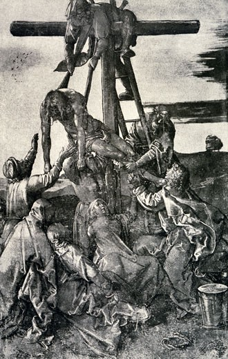 Stock Photo: 463-3027 The Taking Down of the Cross of Christ