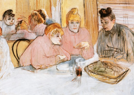 Stock Photo: 463-3055 Women in a Brothel 