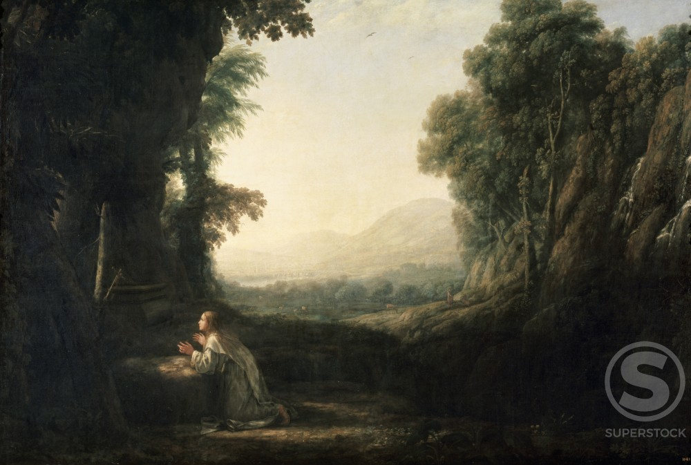 Stock Photo: 463-3057 Landscape with Repenting Magdalena