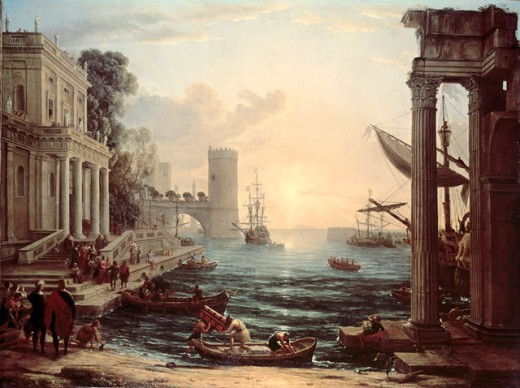 Stock Photo: 463-3058 Embarkation of the Queen of Sheba